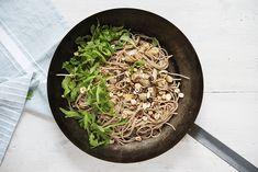 Pasta mit Pilzen und Rauke I vegan