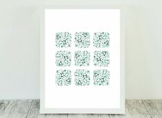 Teal Abstract Print, Teal Geometric Art, Teal Print Artwork, Print Geometric Teal, Teal Wall Hanging, Modern Abstract Art, Teal Artwork Wall by CristylClear on Etsy