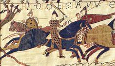Het Tapijt van Bayeux. Het 70 meter lange wandkleed is vernoemd naar het Normandische stadje Bayeux waar het tentoongesteld wordt. In borduurwerk geeft het de geschiedenis van de verovering van Engeland in 1066 weer. De twee hoofdrolspelers zijn de Normandische hertog Willem de Veroveraar en de Angelsaksische graaf Harold II. Beide heren maakten aanspraak op de troon.  Het tapijt laat de strijd zien tussen die twee door bluf, moed en zelfs mogelijke intimidatie elkaar af te troeven.