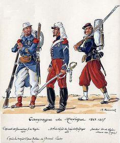French  Legion troops 1846