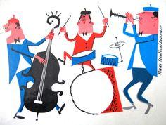 Haas Studios/Learner  Three cool jazz musicians