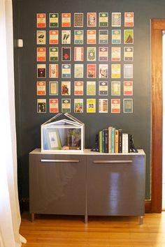 aug 29diy postcard wall display postcard display a line and postcards