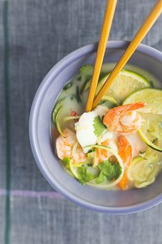 Thai Seafood Coconut Soup This Paleo Thai Coconut Seafood Soup With Shrimp Haddock Amp Zucchini Noodles Is Simple And Satisfying Coconut Soup Recipes, Thai Coconut Soup, Healthy Chicken Recipes, Fish Recipes, Coconut Milk, Healthy Soups, Seafood Recipes, Paleo Recipes, Yummy Recipes