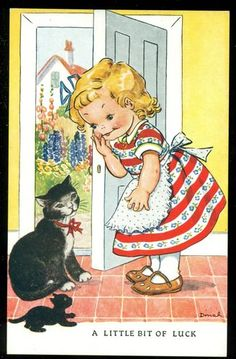 Vintage postcard by Dinah (Published by Raphael Tuck) - 1939~1945