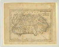 Map of Mississippi Territory, ca. 1805 (MDAH Collection)