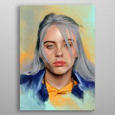 "Beautiful ""Billie Eilish"" metal poster created by John De. Colorful Artwork, Cool Artwork, Pop Art Posters, Poster Prints, Billie Eilish, Celebrity Drawings, Print Artist, Art Music, Celebrity Weddings"