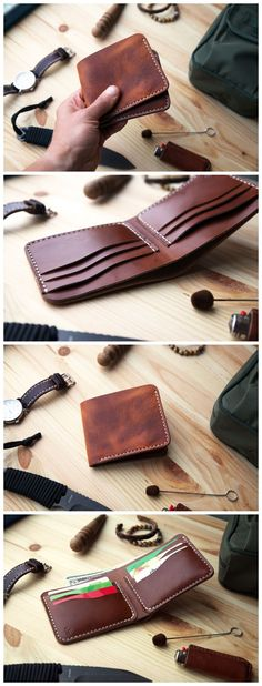 Classic Leather Wallet in two different types of leather. Where exterior made from Horween leather called DERBY in English Tan color sourced in the US. And for interior we used thin pure vegetable tan leather sourced in Italy. That we personally dyed in beautiful brown color to ADD more personality and uniqueness to this product. #accessories #wallet#leather#handmade#leathergoods#everydaycary