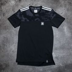 adidas Blackbird Blocked Tee Black/ Solid Grey M