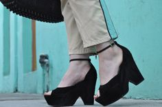 Lignes Graphiques… [http://lizzielo.blogspot.com/2013/10/lignes-graphiques.html] Marc JAcobs pants + Celine wedge sandals + Wang Rocco