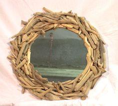 specchio con legni di mare di Tendance nature
