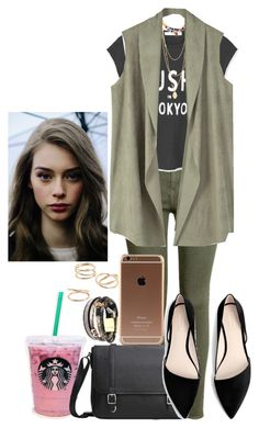 """""""Pink Starbucks"""" by ludya ❤ liked on Polyvore featuring MANGO, H&M and Turkish Delight"""
