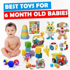 What are the best toys for 6 month old babies? With the advice of pediatricians, here are toys that will help with baby's key milestones and development.