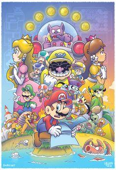 Super Mario Land and Mario Land 6 Gold Coins! Super Mario Bros, Mundo Super Mario, Super Mario Games, Super Mario World, Super Mario Brothers, Super Smash Bros, Totoro, Donkey Kong, Mario Fan Art