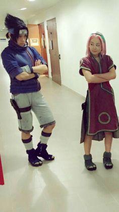 Sakura And Sasuke, Sakura Haruno, Naruto Shippuden, Boruto, Naruto Live Action, Naruto Cosplay, Anime Cosplay, Naruto Team 7, Anime Makeup