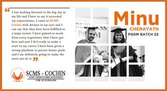 10th in the series of ‪#‎Memories‬ >> Minu Cherayath, PGDM 2013-2015 reflects on her journey with SCMS Cochin School of Business. An ‪#‎initiative‬ powered by ‪#‎Media‬ Relations Club (MRC), SCMS Cochin School of Business. >> #SCMS   #SCMSCochin   #SCMSCochinSchoolofBusiness #FullTimePGDM