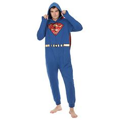 Superman Brushed Terry Lounger is all one piece. Well, it can be two since the cape is removable, but that's the maximum. No complicated buttons - it zips up. It's the Superman outfit for an era without phone booths.