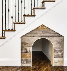 Under Stairs Dog House . Under Stairs Dog House . Under the Stairs Dog House Future House, The Future, Stair Decor, Stairwell Decorating, Wall Decor, Diy Casa, Dog Rooms, House Goals, First Home