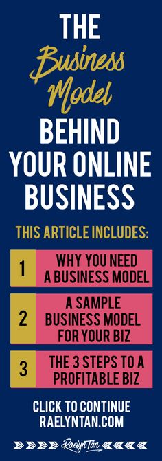 Starting an online business to make money? You need a business model to map your way to success and start working from home! This is a…