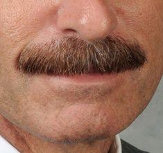well trimmed mustache
