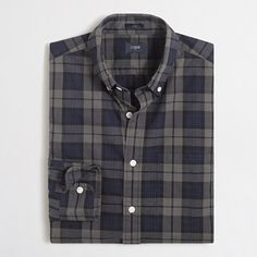 J.Crew+Factory+-+Factory+slim+washed+shirt+in+plaid