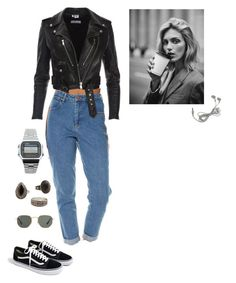 Untitled #64 by marcy-264 on Polyvore featuring Wrangler, MANGO, Ray-Ban, J.Crew, Casio and Anja