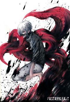 Kaneki Ken from Tokyo Ghoul by PastabbleArtworks.deviantart.com on @DeviantArt