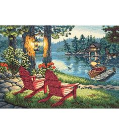 Dimensions Gold Collection Twilight's Calm Counted Cross Stitch Kit, , hi-res