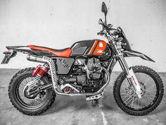 "Moto Guzzi Scrambler ""Eagle Cross"" by Bruno Birbes #motorcycles #scrambler #motos | caferacerpasion.com"