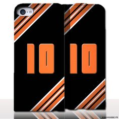 Protection iPhone 5 Cuir Numero - Personnalisez votre étui en cuir. #Numero #10 #Aube #etui #iPhone5 #Cuir