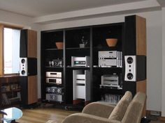 Music listening room... via Stereophile Magazine.