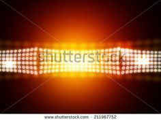 Gold on stage light background - stock photo