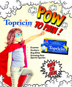 Topricin® for Children is pain relief formula for kids! Perfect for muscle pain, injuries, bruises,  #eczema, scrapes, scratches, minor burns/#sunburn and #bugbites too! Pediatrician recommended and Parent Approved! #topricinforchildren #topricin #parenting #backtoschool #mommybloggers #childrensproducts