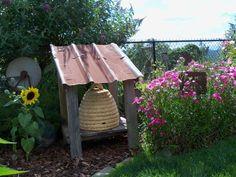 bee skep shelter . . . get corn crib metal roof . . .