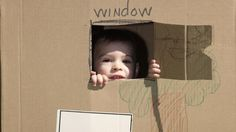 DIY collapsible cardboard playhouse