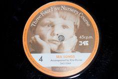 45 r.p.m  Number 4 Rhythms & Sea Songs Three Four Five Nursery Course Record series
