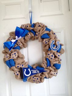 A personal favorite from my Etsy shop https://www.etsy.com/listing/246742345/indianapolis-colts-wreath