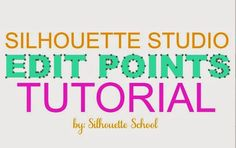As promised, today I have a rather indepth tutorial on how to use, manipulate and design with edit points in Silhouette Studio. By the time you get to the bottom of this post you're gonna be an exper