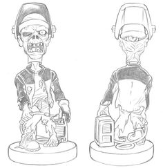MILLER ELECTRIC'S WELDING DEAD BOBBLE HEAD COLLECTION