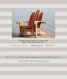Adirondack chair made from vintage skis, outdoor summer lake cottage