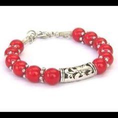 Tibet silver coral red bead bracelet New Jewelry Bracelets