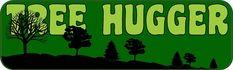 "10"" x 3"" Tree Hugger Vinyl Bumper Sticker Vinyl Car Decal Window Stickers Decals"