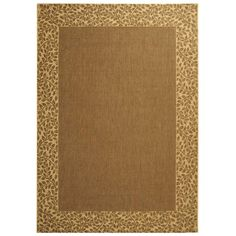 Shop Safavieh Courtyard Brown/Natural Rectangular Indoor/Outdoor Machine-Made Area Rug (Common: 4 x 6; Actual: 48-in W x 67-in L x 0.33-ft Dia) at Lowes.com