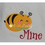 Bee Mine Applique Design