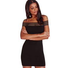 Sexy off shoulder hip slim boat neck dress for the trendy woman Lovely  casual dress with elegant stripe design Great for parties 37ba721f0