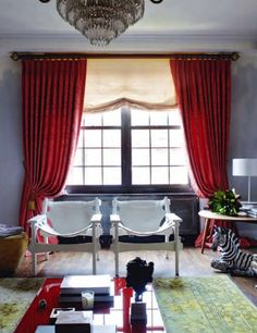Red Curtains Such Lovely Drama Gray Bedroom Master D Drapery