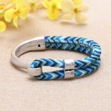 Nickel free, lead free Zine - alloy accessories and cloth rope fashion bracelets  ETS-B0308