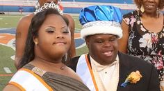 Students with Down syndrome are crowned homecoming king and queen