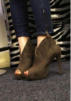 Women's peep toe high heels