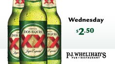$2.50 Dos Equis Lager Every Wednesday at #PJsPub (times vary)