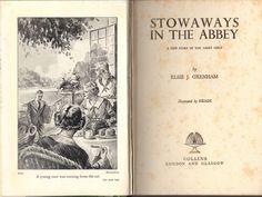 Vintage Elsie J Oxenham Stowaways in The Abbey HCDJ 1st Edition 1940   eBay